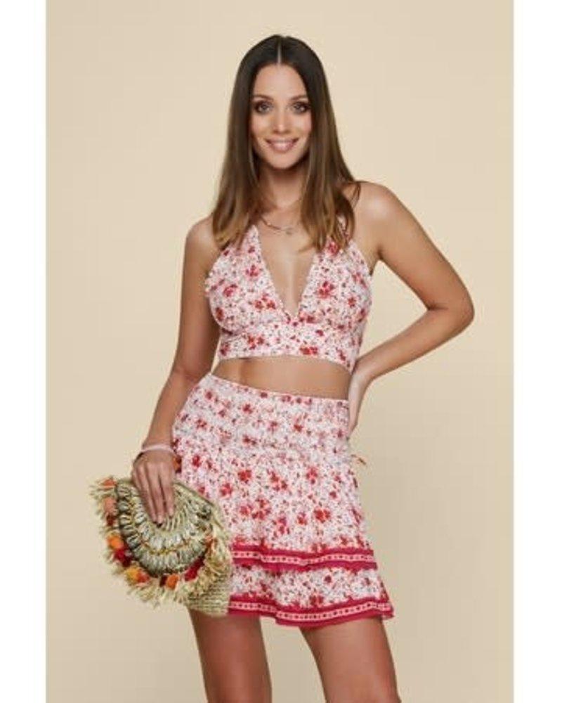POUPETTE ST BARTH Mini Skirt Kaila Ruffled V CK PR (WS)S20