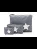 Hi Love Travel Cool Gray with Metallic Silver Star - 3 Set