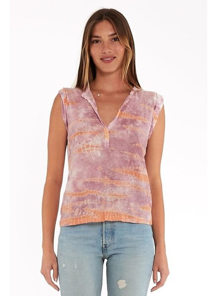 Young Fabulous & Broke Loni Tee Peach Bamboo Wash S20