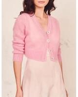 Love Shack Fancy Folley Cardigan Pink Flamingo S20