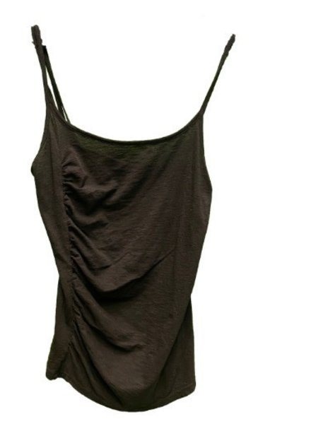 Stateside Slub Shirred 3 Strap Cami