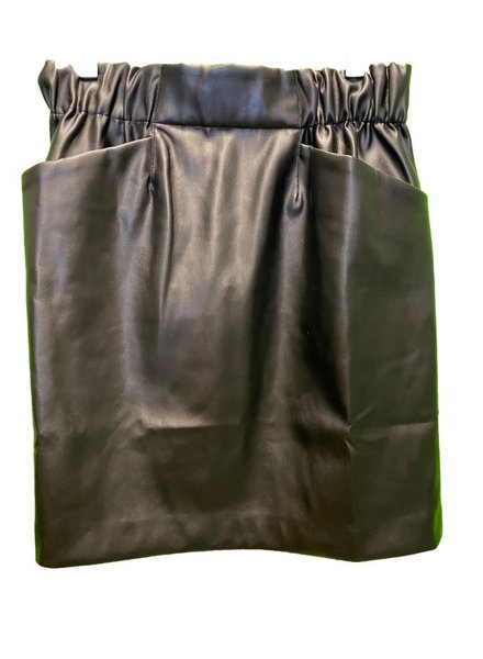 SEN Romania Faux Leather Skirt