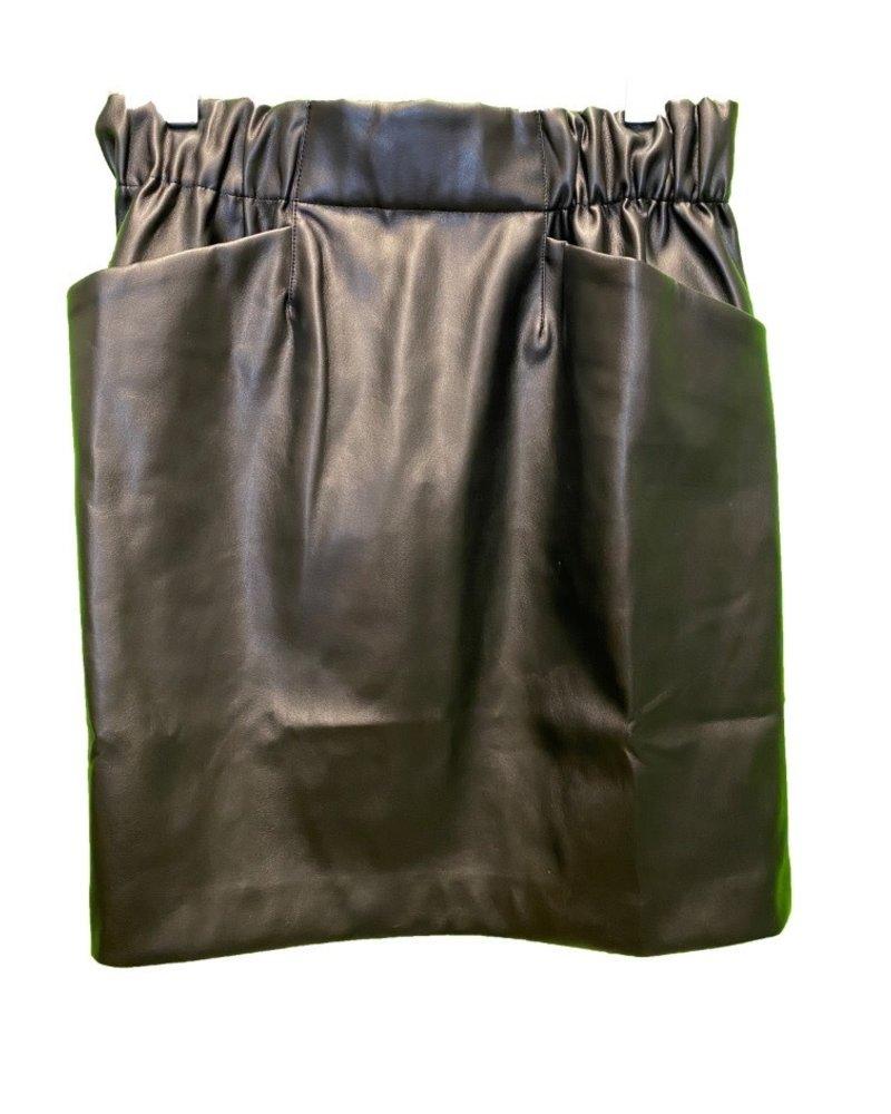 SEN Romania Faux Leather Skirt