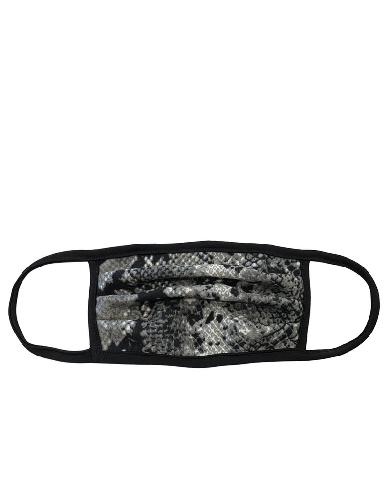 Marlyn Schiff Grey Snakeskin Adult Mask
