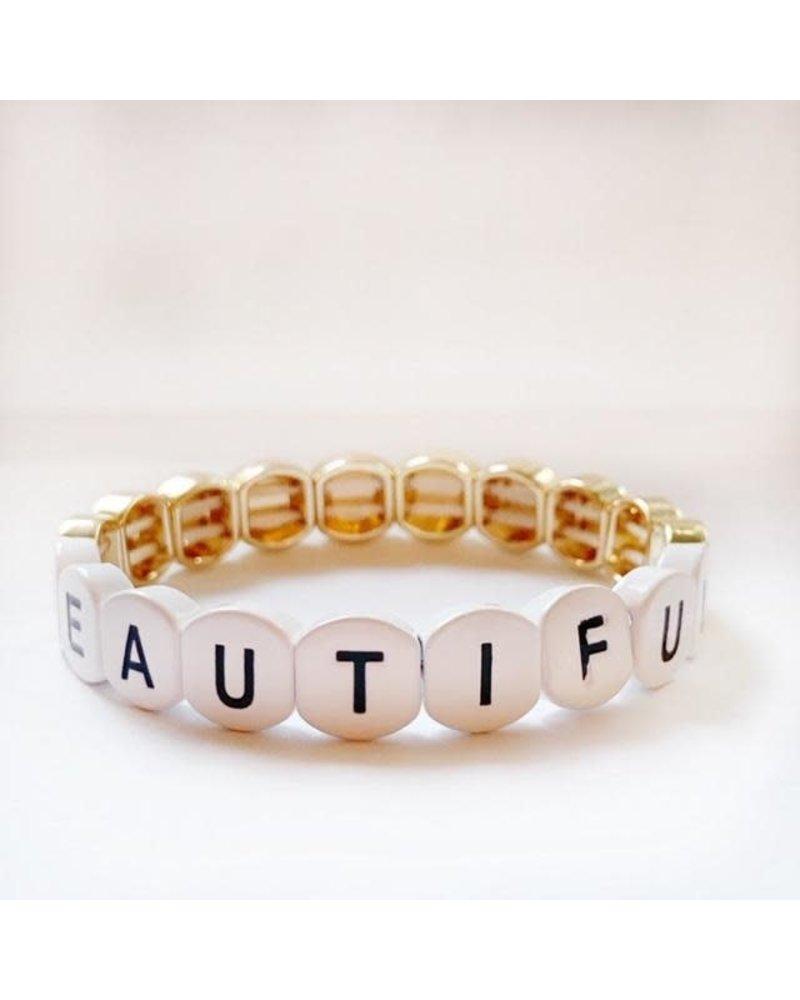 Caryn Lawn Word Tile Bracelet Beautiful
