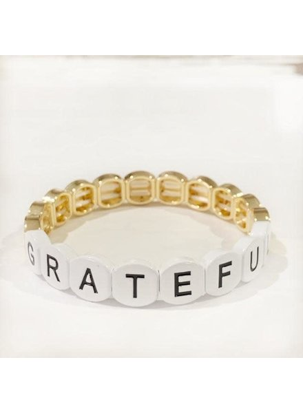 Caryn Lawn Word Tile Bracelet Grateful