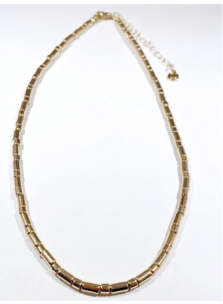 Caryn Lawn Tube Tile Necklace Gold