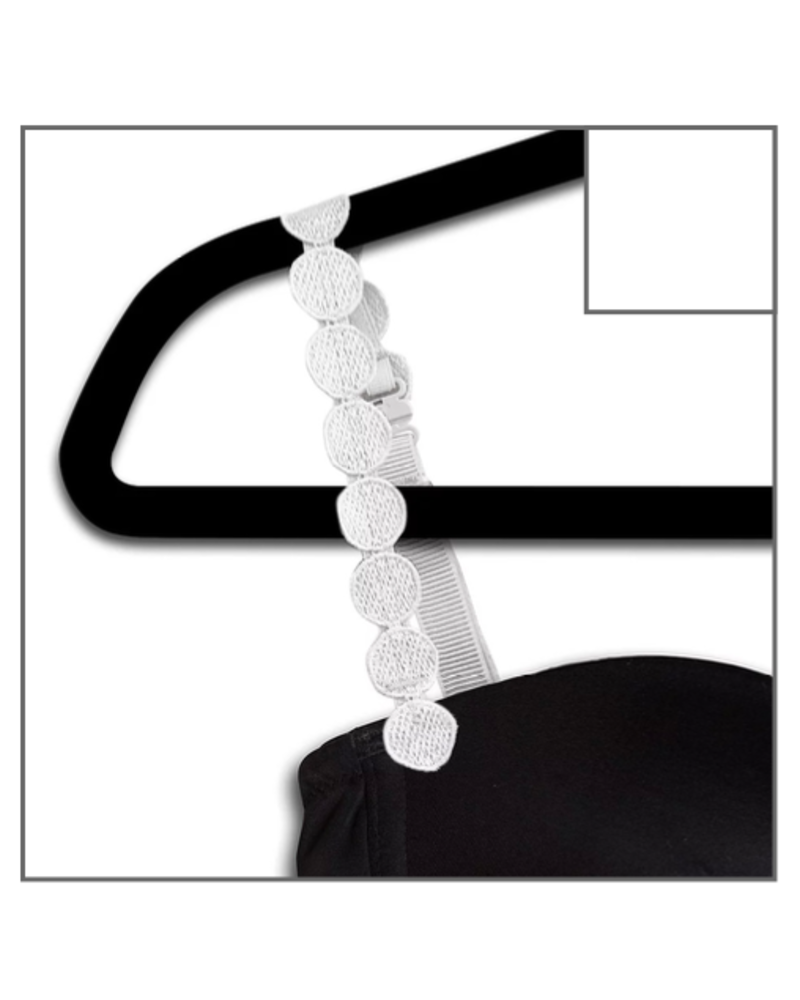 Strap-Its Bra Straps White Circles