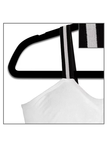 Strap-Its White Bra Attached Strap Tuxedo Stripe