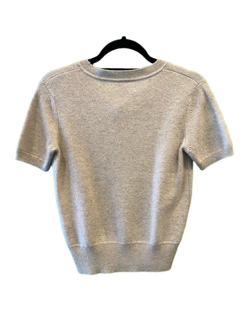 Naadam Short Sleeve Cropped Pullover F19