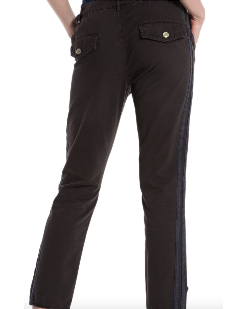Danang The Hi-Lo Twill Pant Licorice F19