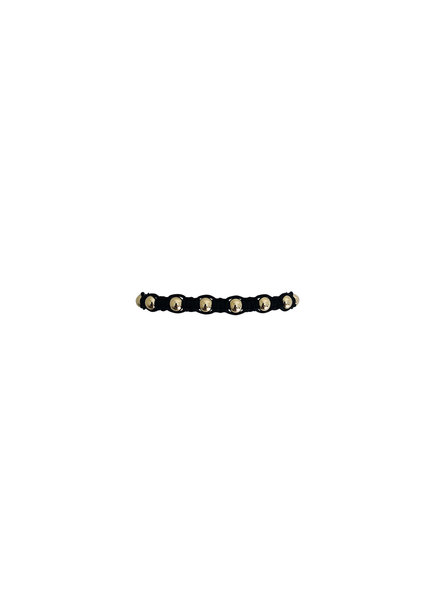 Karen Lazar Black Macrame with Yellow Gold Filled Beads