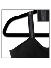 Strap-Its Black Bra Black Sheer Strap