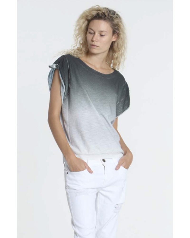 Label + Thread Ombre Tie Tee Smokey S20