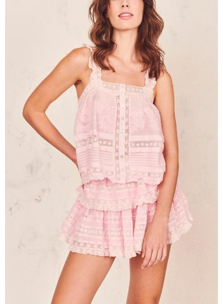 Love Shack Fancy Sully Top Pink Tulip S20