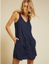 Nation Lanie Buttoned Sun Dress Ink S20