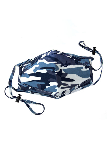 Marlyn Schiff Adjustable Mask Blue Camo