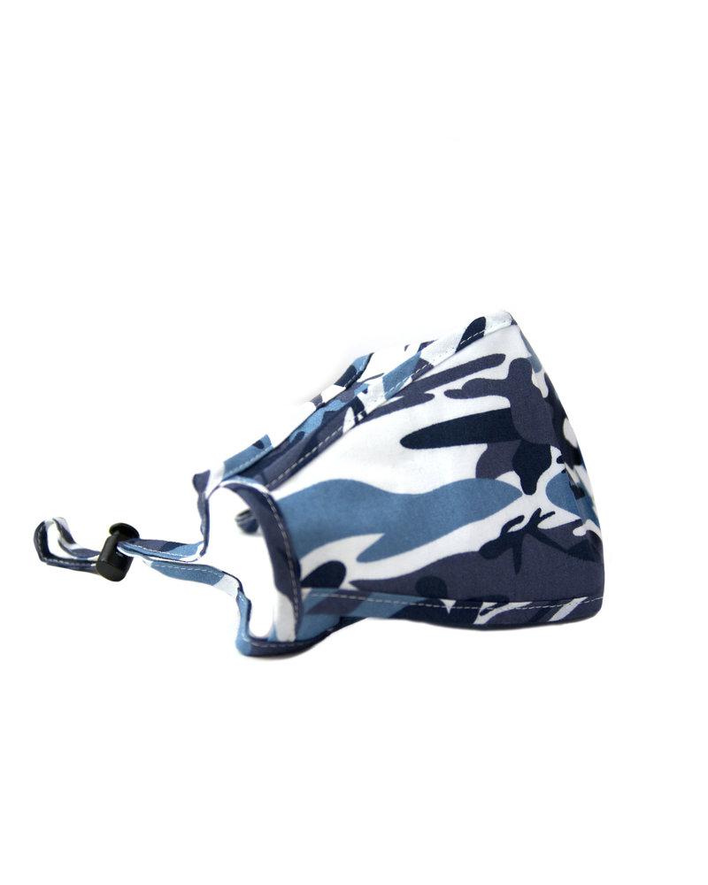 Marlyn Schiff Adjustable Mask Blue Camo