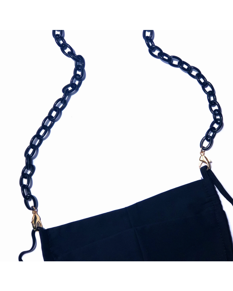La Loop Small Black Link with Gold Chain