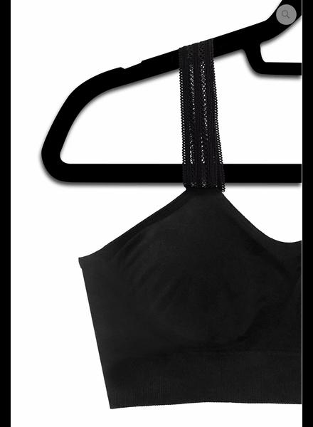 Strap-Its Black Bra Attached Lace