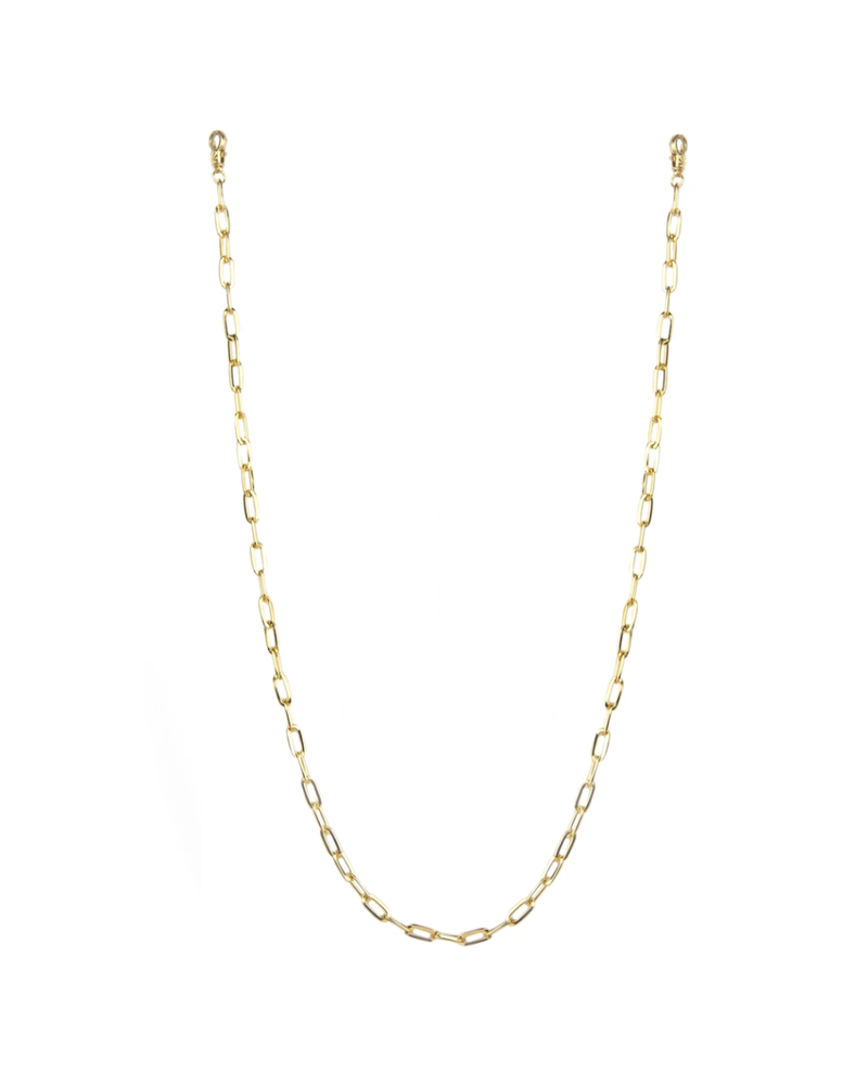 "Marlyn Schiff 26"" large link mask chain 1620N Gold"