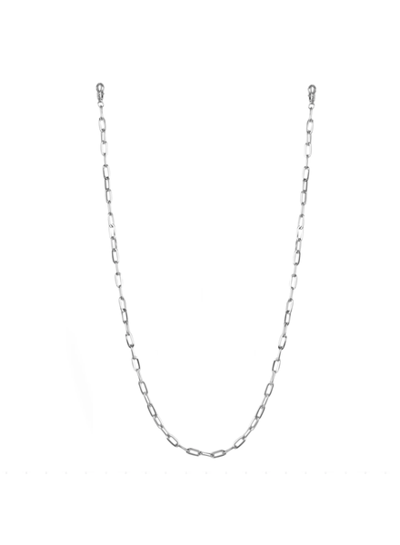 "Marlyn Schiff 26"""" large link mask chain 1620N Silver"