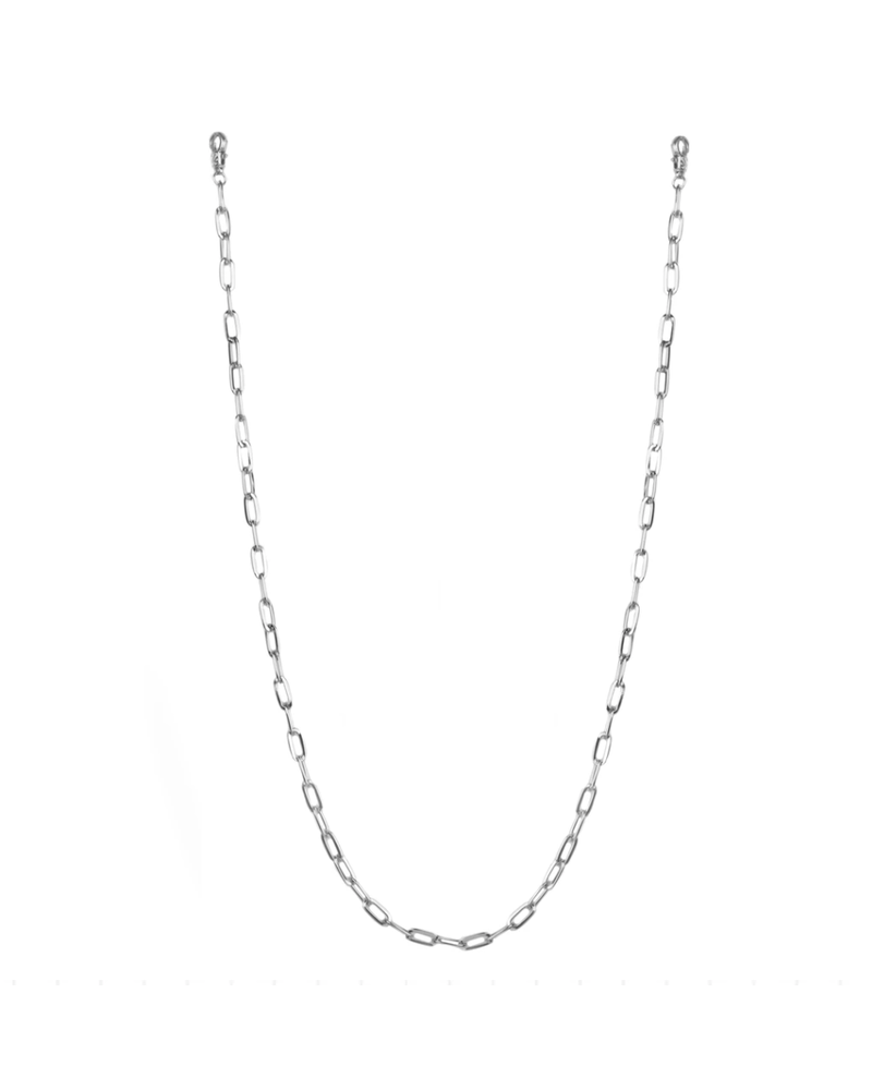 """Marlyn Schiff 26"""" large link mask chain 1620N Silver"""