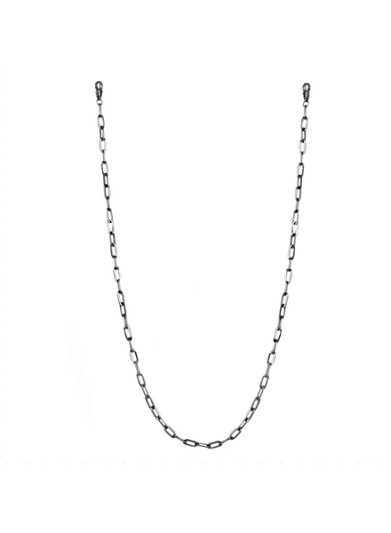 "Marlyn Schiff 26"""" large link mask chain 1620N Hematite"