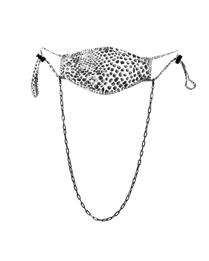 "Marlyn Schiff 26"" large link mask chain 1620N Hematite"