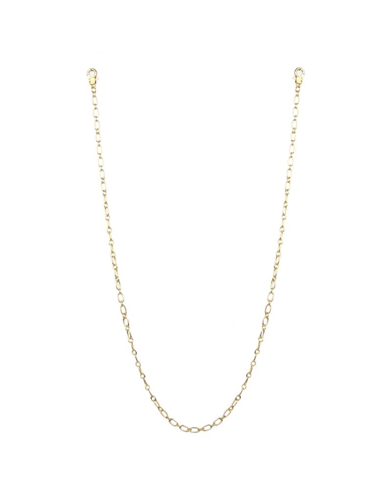 """Marlyn Schiff 26"""" small oval link mask chain 1621N Gold"""