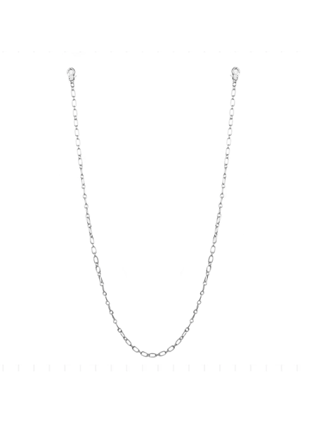 """Marlyn Schiff 26"""" small oval link mask chain 1621N Silver"""