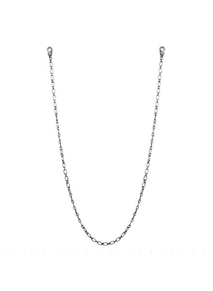 """Marlyn Schiff 26"""" small oval link mask chain 1621N Hematite"""