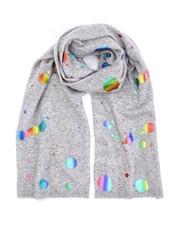 Brodie Rainbow Foil Evie Scarf Super Grey Rainbow F20