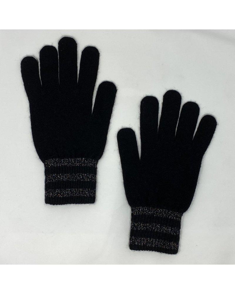 Brodie Lurex Stripe Gloves Black Multi Color F20