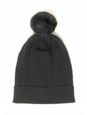 Brodie Miss Cable Faux Fur Hat Black/Black F20