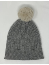 Brodie Miss Cable Faux Fur Hat Mid Grey/Brown F20