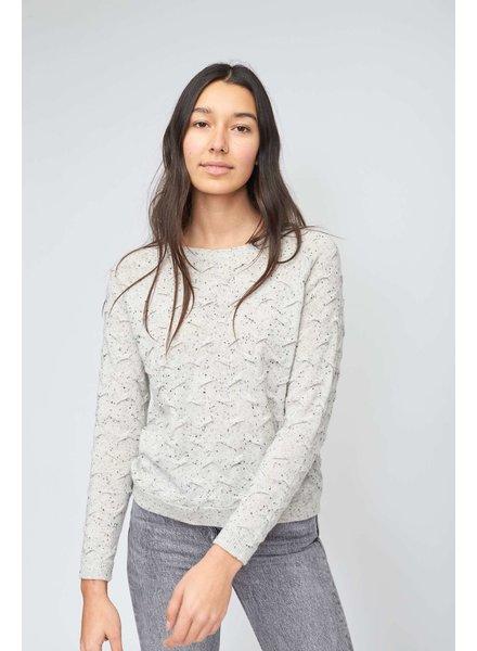Kokun Tuck Stitch Pullover Gry Speck K5430 F20