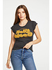 Chaser Baby Rib Short Sleeve Flouncy crew neck tee - Hollywood S20