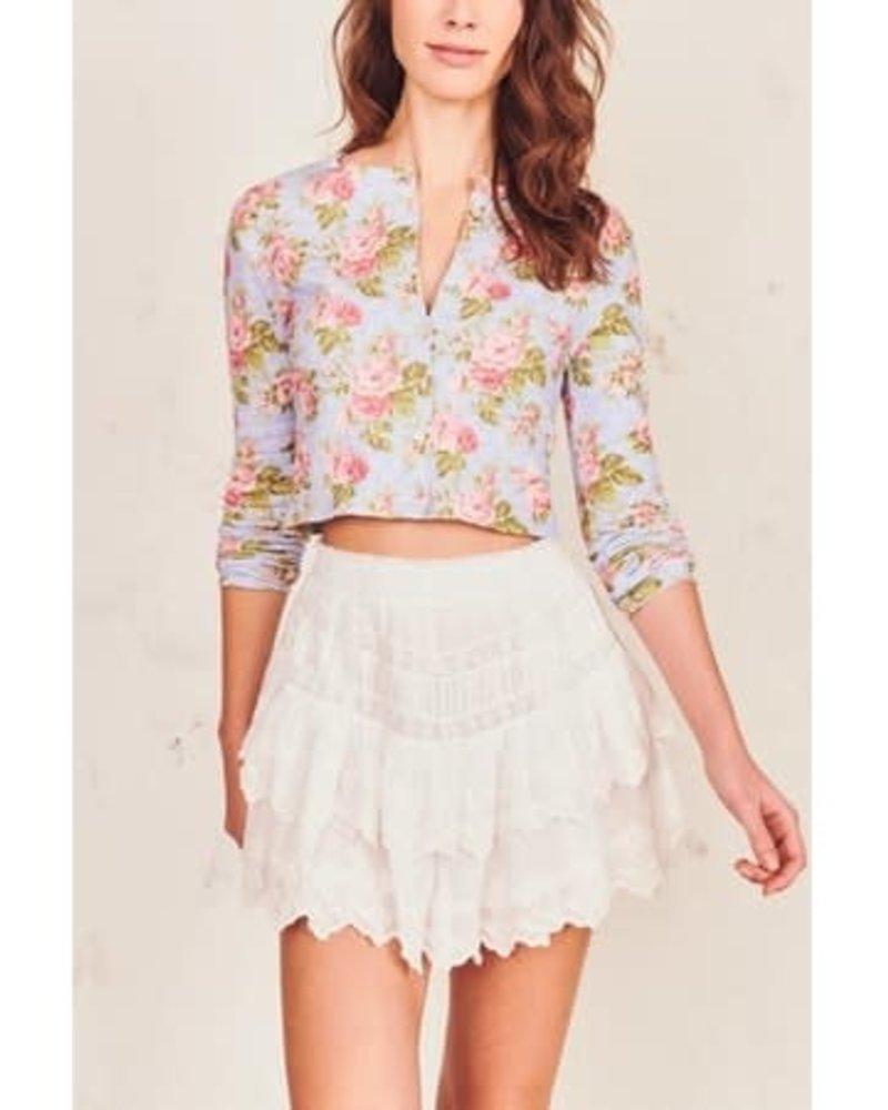 Love Shack Fancy Emilia Skirt White S20