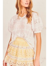 Love Shack Fancy Concord Top White S20