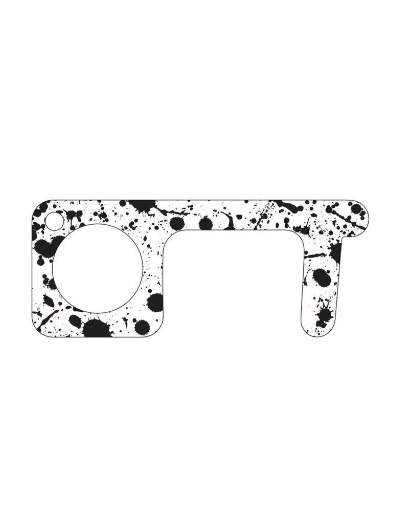 Julie Maloof Designs Touchless Points Mini Splatter Clear Black