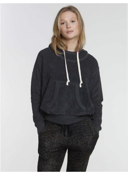 Label + Thread Terry Hoodie Charcoal F20