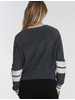 Label + Thread Loopy Crop Top Charcoal F20