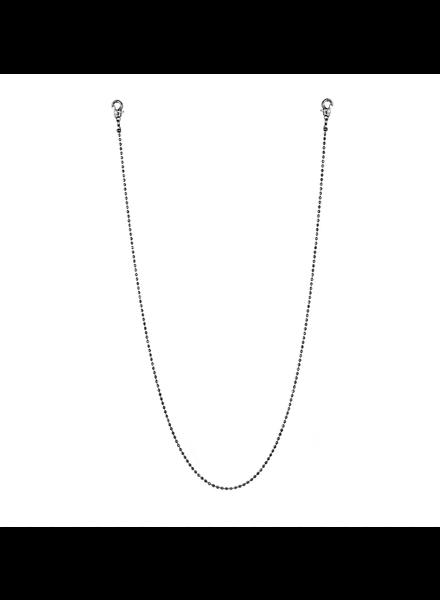 "Marlyn Schiff 26"" metal bead mask chain 1637N Hematite"