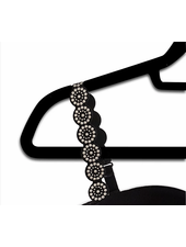 Strap-Its Black Bra Silver Vegan Rockstuds