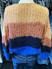 Maiami Mohair Big Sweater Color Block Peach Blue F20