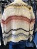 Maiami Mohair Small Cardigan Fine Stripe Cream F20