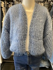 Maiami Mohair Big Bomber Cardigan China Blue F20