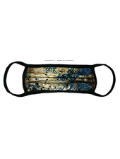 Marlyn Schiff Teal Python Adult Mask