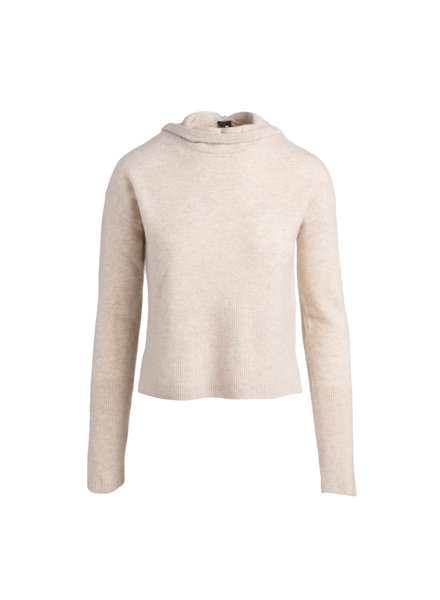 Naadam Texture Stitch Pullover Hoodie Oatmeal F20